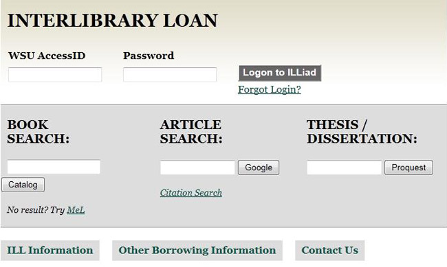 Content Delivery (Interlibrary Loan / Document Delivery) | Wayne
